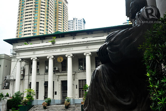 STOP. The Department of Justice says death squad investigation could not proceed because the sole witness had left the government's witness protection program. File photo by Rappler
