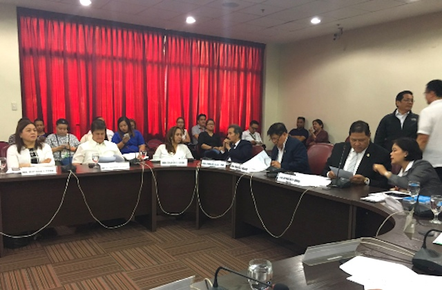 DEATH PENALTY. The House committee on justice meets on December 7, 2016. Photo by Mara Cepeda/Rappler