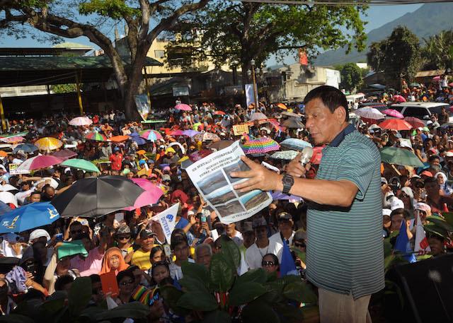 Rodrigo Duterte | 2016 elections | Photo from Duterte media bureau