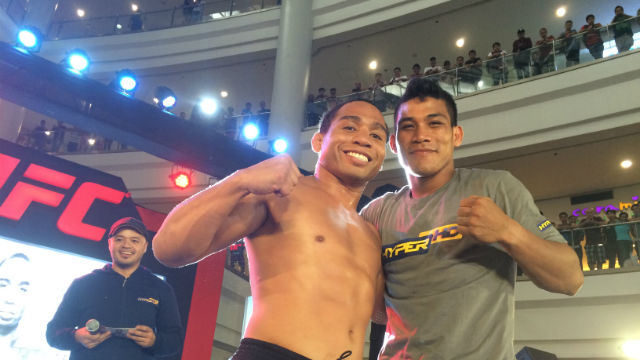 THERE SOON? Jenel Lausa (R) has UFC aspirations. Photo by Nissi Icasiano/Rappler