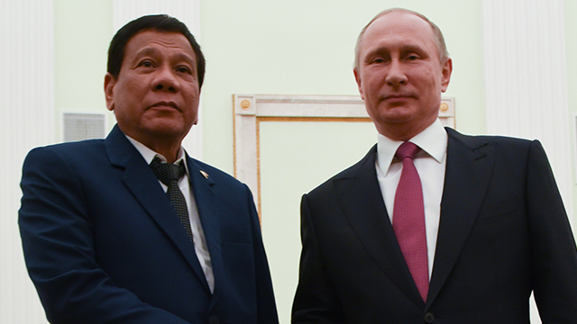 ALLIES. In this file photo, President Rodrigo Duterte meets with Russian Federation President Vladimir Putin at the Kremlin in Moscow on May 24, 2017. Photo courtesy of the Malacau00f1ang.