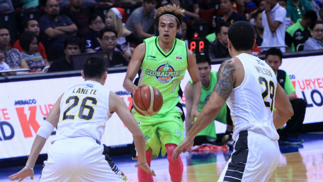 TERRENCE THE MENACE. The GlobalPort star leads his team to a win. Photo from PBA Images