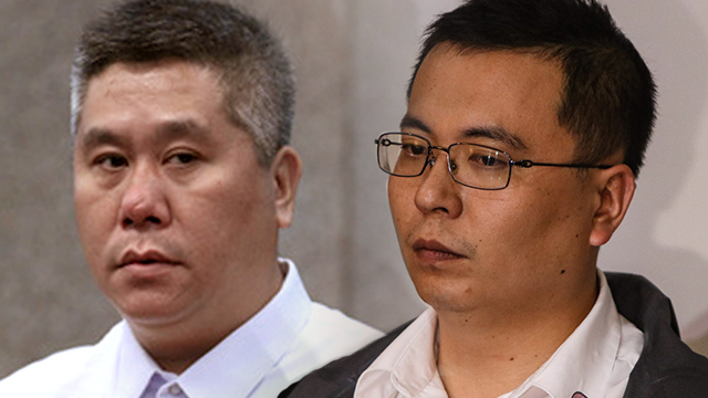SHABU SHIPMENT. Chinese businessmen Richard Chen/Tan (left) and Kenneth Dong (right) are still at large five months since their arrest warrants were issued. Photo of Richard Chen/Tan by Joseph Vidal/PRIB and photo of Kenneth Dong by Rappler