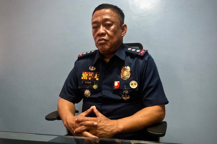OFFICER-IN-CHARGE. Colonel Hermogenes Cabe is just a little over a week into leading the Muntinlupa City cops when Fredric Santos was gunned down. Photo by Rambo Talabong/Rappler