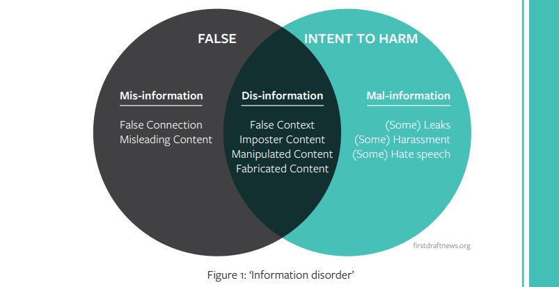 A screenshot from the handbook (p. 46) showing theu0022information disorder.u0022