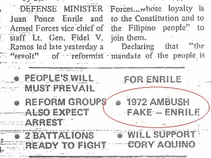 INQUIRER. Published on the front page of the Philippine Daily Inquirer on February 23, 1986.