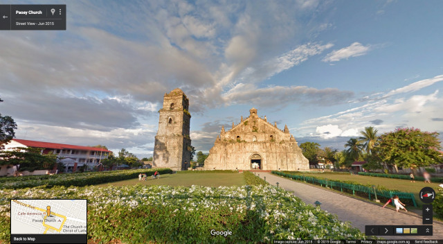 PAOAY CHURCH IN STREET VIEW