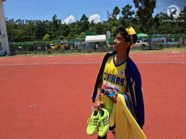 LOOKING FOR A WIN. Rick Angelo Sotto swapped computer games for athletics, and it's landed him in the Palarong Pambansa. Photo by Naveen Ganglani/Rappler