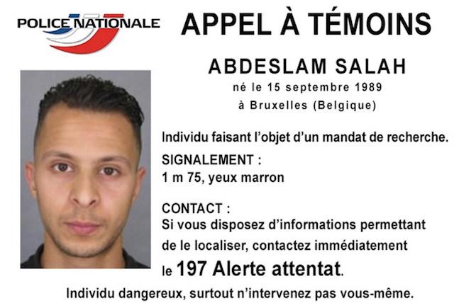 BURON. Salam Abdeslam merupakan salah satu buronan pelaku serangan di Paris. Foto dari Police Nationale/AFP