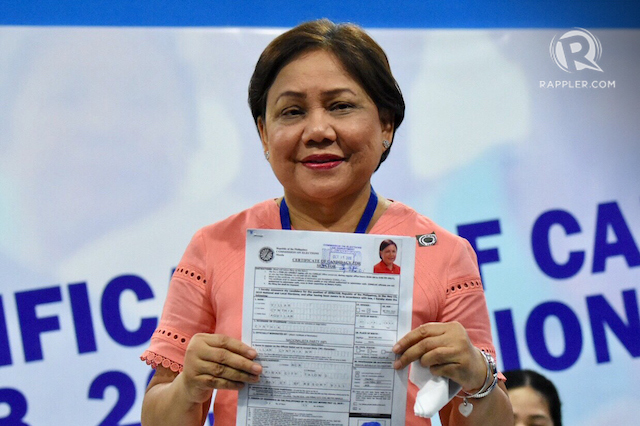 ANOTHER SHOT. Senator Cynthia Villar is gunning for another term in the upper house. Photo by Angie de Silva/Rappler