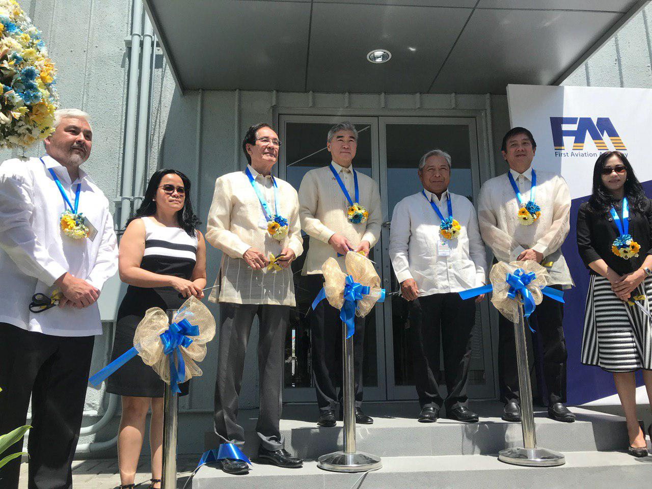 RIBBON CUTTING. PAL President Jaime Bautista, along with MacroAsia President u0026 COO and First Aviation Academy Chairman Joseph Chua, PTC Holdings CEO Gerardo Borromeo, and US Ambassador to the Philippines Sung Kim, officially opened the flight school on March 21, 2019. Photo by Aika Rey/Rappler