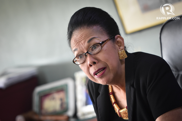 FOR COMMITMENTS. Former Commission on Higher Education Chairperson Patricia Licuanan says her overseas trips were necessary to secure scholarship opportunities for Filipinos. File photo by LeAnne Jazul/Rappler