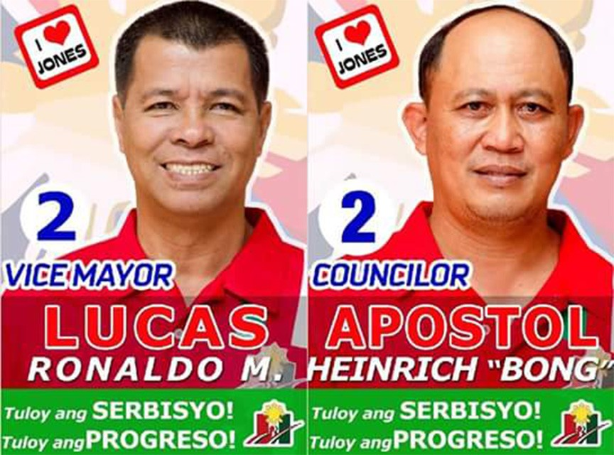SLAIN CANDIDATES. Vice mayoral reelectionist Ronaldo Lucas (left) and Jones Councilo Bong Apostol (right)