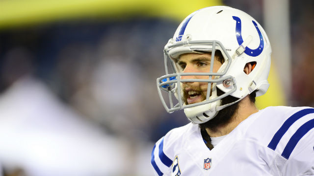RICH MAN. Andrew Luck has the most expensive extension in NFL history. Photo by EPA/JOHN CETRINO