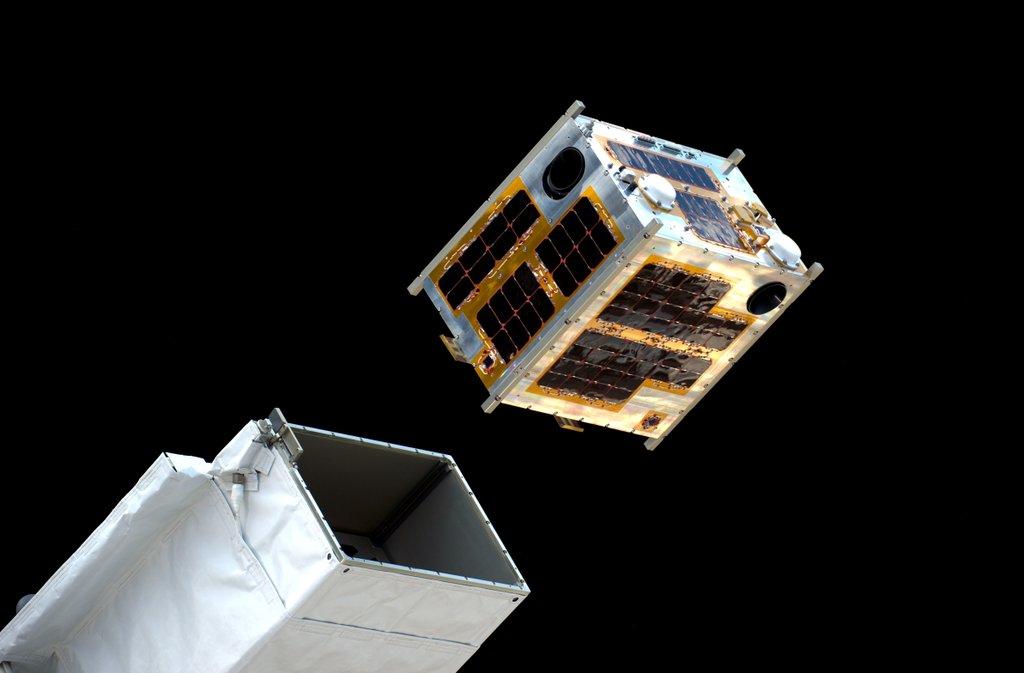 The microsatellite Diwata-1 being deployed into space. Photo courtesy ESA/Astronaut Tim Peake/Twitter