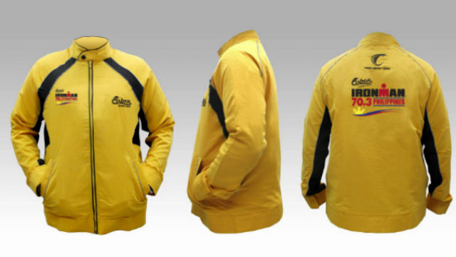 Specially-made Cobra-Sunrise Ironman jackets will be given away to the first 300 participants who will register for the 2017 Cobra Energy Drink Ironman 70.3 Philippines at the Cebu Province Capitol on October 1. CONTRIBUTED PHOTO