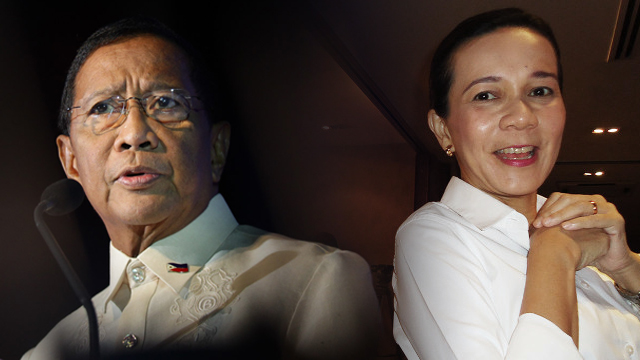 Vice President Jejomar Binay (L) and Senator Grace Poe (R). Rappler file photos