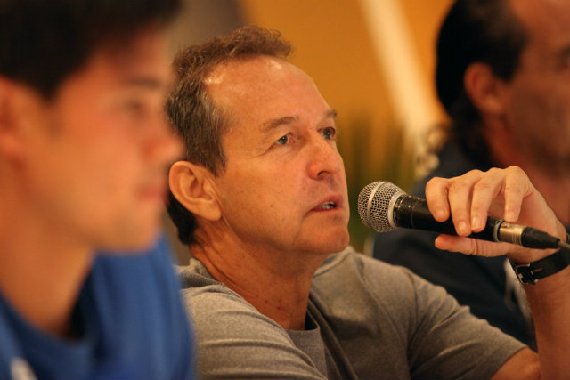 Thomas Dooley, seen before the Azkals' game against Bahrain, was one of the factors who facilitated the raise in popularity of football stateside. File photo by Josh Albelda/Rappler