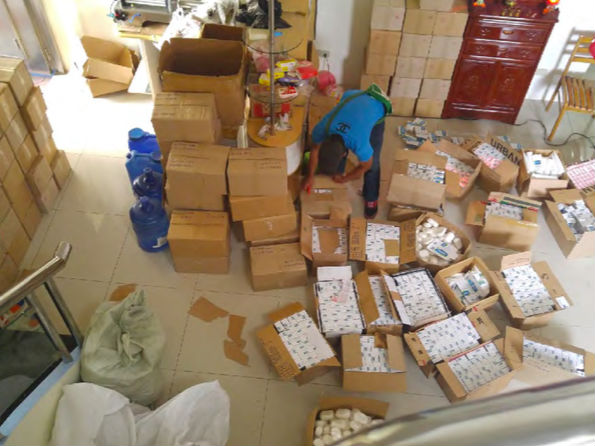 Counterfeited Galderma products raided in Parau00f1aque. Photo courtesty of Cetaphil
