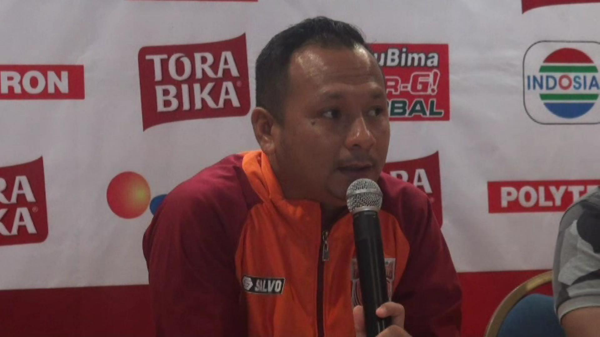 Pelatih Pusamania Borneo FC (PBFC) PBFC Ricky Nelson saat jumpa pers menjelang duel melawan Persib Bandung di leg pertama semifinal Piala Presiden, Rabu (1/3). Foto oleh Sapri Maulana/Rappler