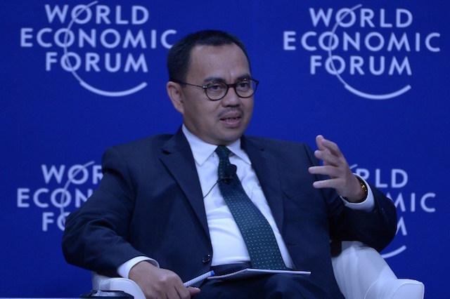 Menteri Energi dan Sumber Daya Mineral Sudirman Said dalam acara World Economic Forum di Jakarta, 21 April 2015. Foto oleh Adek Berry/AFP