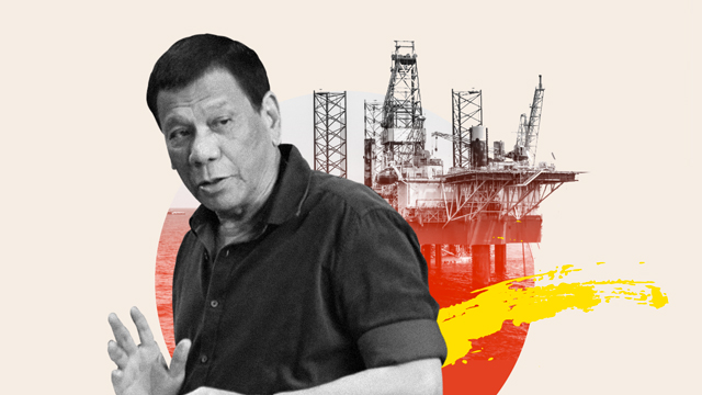 OIL IS THE ANSWER. President Rodrigo Duterte talks of the need for indigenous sources of oil in his recent speeches