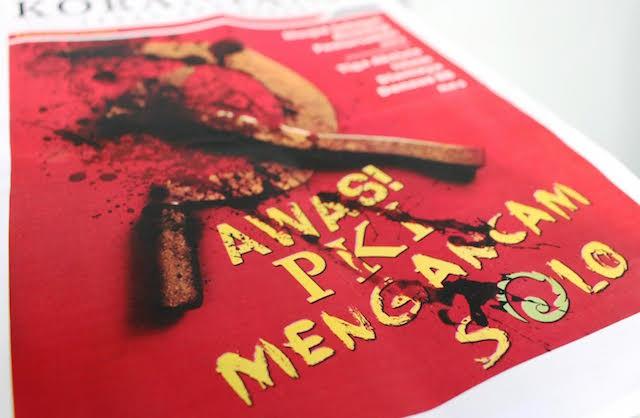 PKI. Buletin sebuah ormas yang ada di Solo menentang upaya rekonsiliasi dengan korban Tragedi 1965. Foto oleh Ari Susanto/Rappler