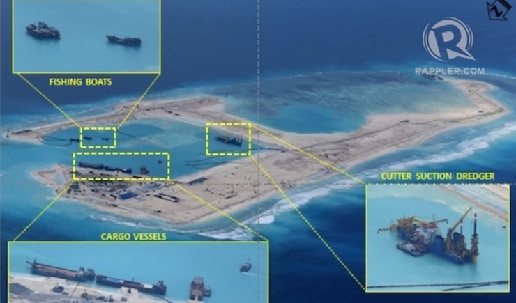 AIRSTRIP. China is building in Fiery Cross Reef its first airstrip in the Spratlys