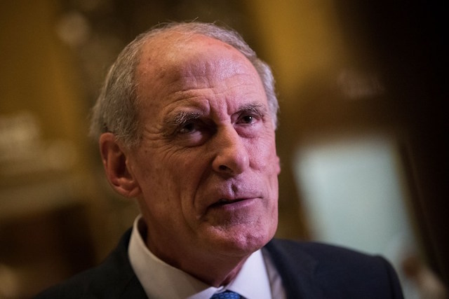 COATS REPORT. This file photo shows Dan Coats speaking to reporters at Trump Tower on November 30, 2016 in New York City. File photo by Drew Angerer/Getty Images/AFP