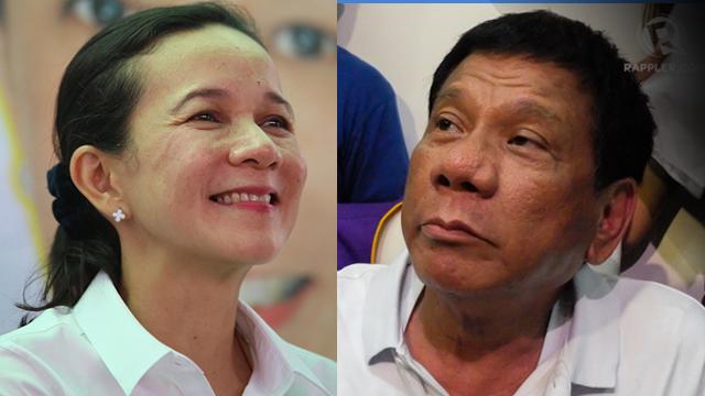 DISPROVE IT. Senator Grace Poe dares her closest rival Davao City Mayor Rodrigo Duterte to disprove the allegations that he has a P211 million secret bank account.
