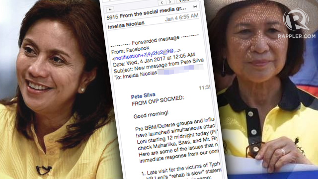 INCRIMINATING EMAILS? The internet explodes into a frenzy over supposed leaked emails from the Office of the Vice President containing negative messages about President Rodrigo Duterte.