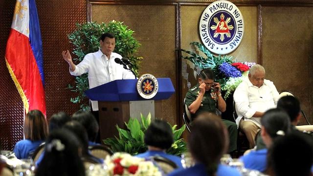 MALACANANG VISIT. President Rodrigo Duterte welcome former communist rebels to Malacau00c3u00b1ang. Presidential Photos