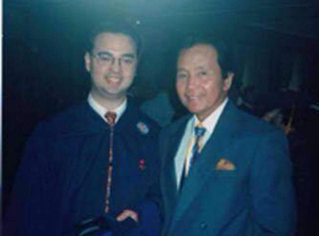 LAW SCHOOL. Cayetano was studying law school in Ateneo when he ran for vice mayor. Photo from Alan Cayetano's Facebook page