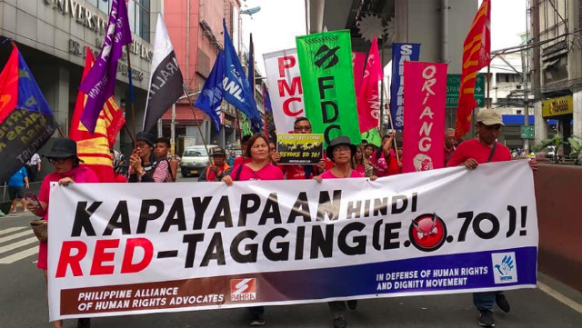 STOP THREATS. Human rights groups call for end of red-tagging under Rodrigo Duterte. Photo from PhilRights