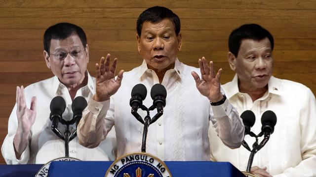 DUTERTHREE. President Rodrigo Duterte has given 3 SONAs in his 3 years in office. Photos (left to right) by Malacau00f1ang, Noel Celis/Agence France-Presse, Malacau00f1ang photo