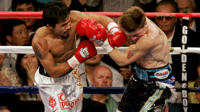 Manny Pacquiao hasn't fought at junior welterweight since his 2009 destruction of Ricky Hatton. File photo by Louie Traub/EPA