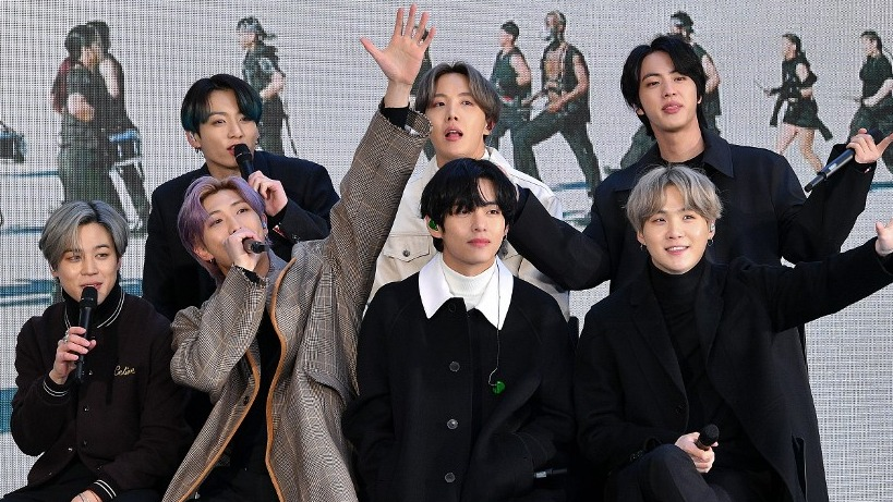 RECORD. South Korean boy group BTS debuted at the Billboard Hot 100 chart with 3 songs on the list from their new album Map of the Soul: 7. Photo by Dia Diapsupil/Getty Images North America/AFP