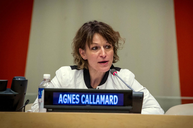 EXPERTS. United Nations special rapporteurs, such as Agnes Callamard, are tasked to monitor human rights conditions around the world. Photo courtesy of Loey Felipe/UN photo