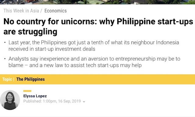 Screenshot from the South China Morning Post