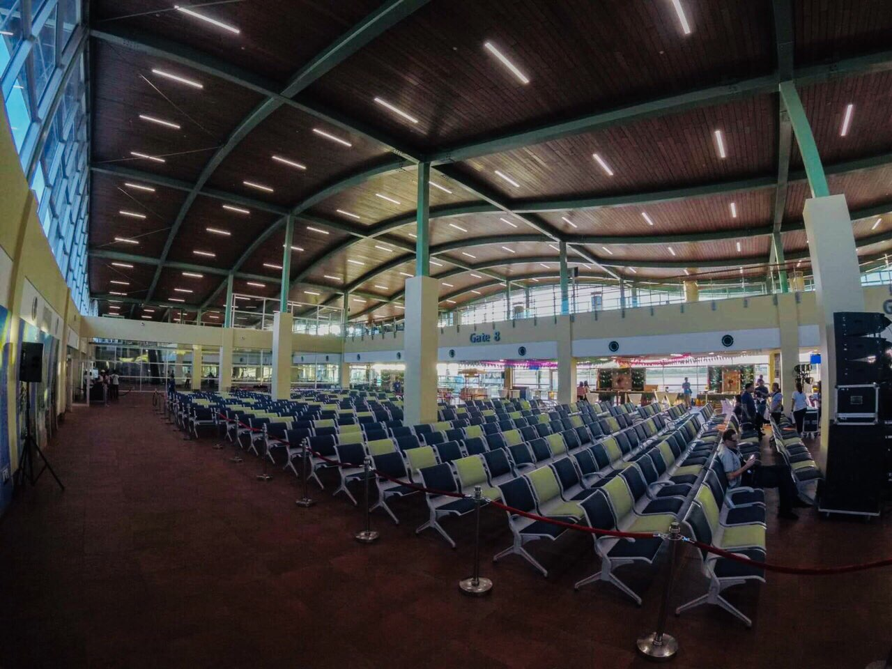 GATES. New boarding gates are more spacious and can accommodate more passengers during peak hours, compared to the Tagbilaran Airport.