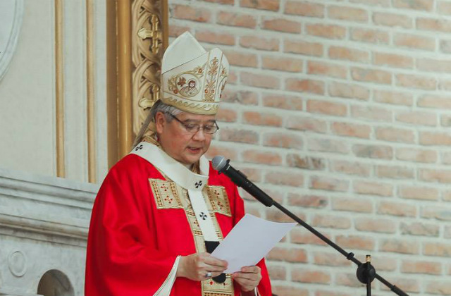 MARTIAL LAW. Lingayen-Dagupan Archbishop Socrates Villegas recalls the evils of martial law in a homily set to be delivered at noon on September 21, 2017. File photo courtesy of Sabins Studio