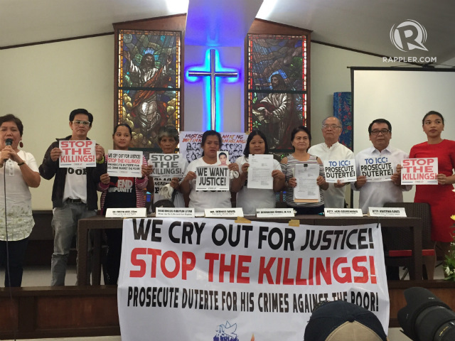 JUSTICE. Families seek justice for the deaths of their loved ones. Photo by Jodesz Gavilan/Rappler