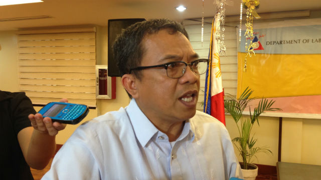 MORATORIUM. Fameronag says there will be a shorter moratorium period for the Labor Laws Compliance System in the National Capital Region in order to meet targets for 2015. Photo by Mara Cepeda/Rappler