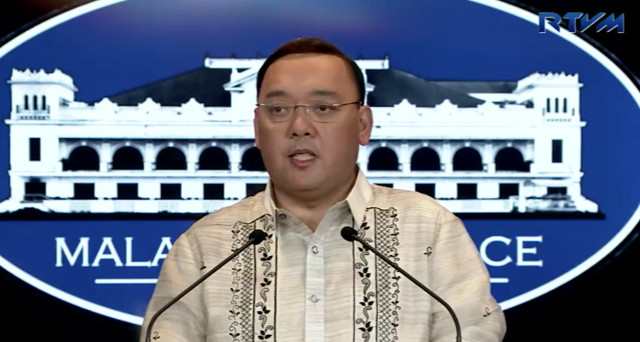 MESSAGING. Presidential Spokesman Harry Roque holds a press briefing. RTVM screenshot