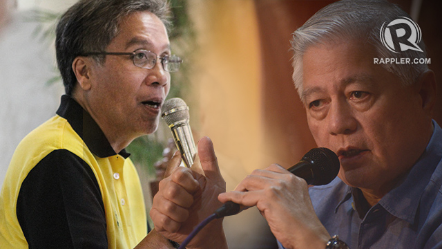Mar Roxas photo by Lito Borras/Rappler, Raffy Alunan photo by Jansen Romero/Rappler