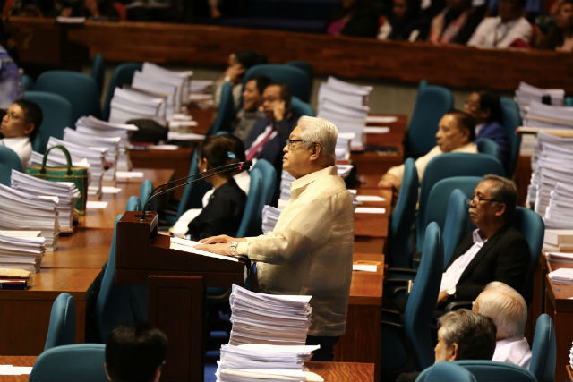 NO DATA. Albay 1st District Representative Edcel Lagman assails the lack of empirical data to back the request to extend the Mindanao martial law.