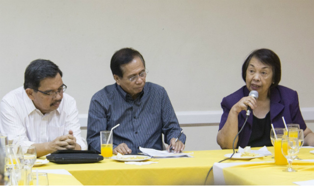 START. Implementing panel chair Irene Santiago discusses the agenda of the upcoming meeting between the Philippine government and the Moro Islamic Liberation Front. Photo from OPAPP
