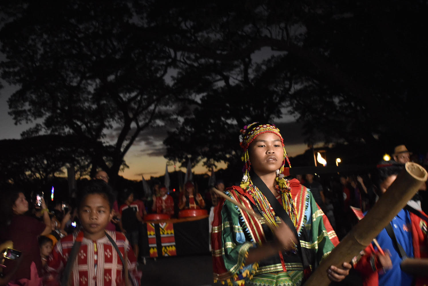 Lumad students join the annual University of the Philippines Lantern Parade on Friday, December 13. Photo from Save Our Schools Network