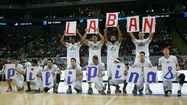 The PBA All-Stars show their love for the Philippines