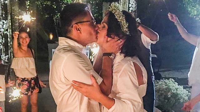 SEVEN YEARS. Judy Ann Santos and Ryan Agoncillo renew their wedding vows in Batangas, Saturday, April 30. Screengrab from Instagram/@iamnoelferrer
